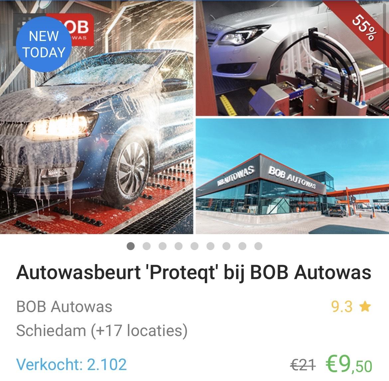 Autowasbeurt 'Proteqt' bij Bob Autowas