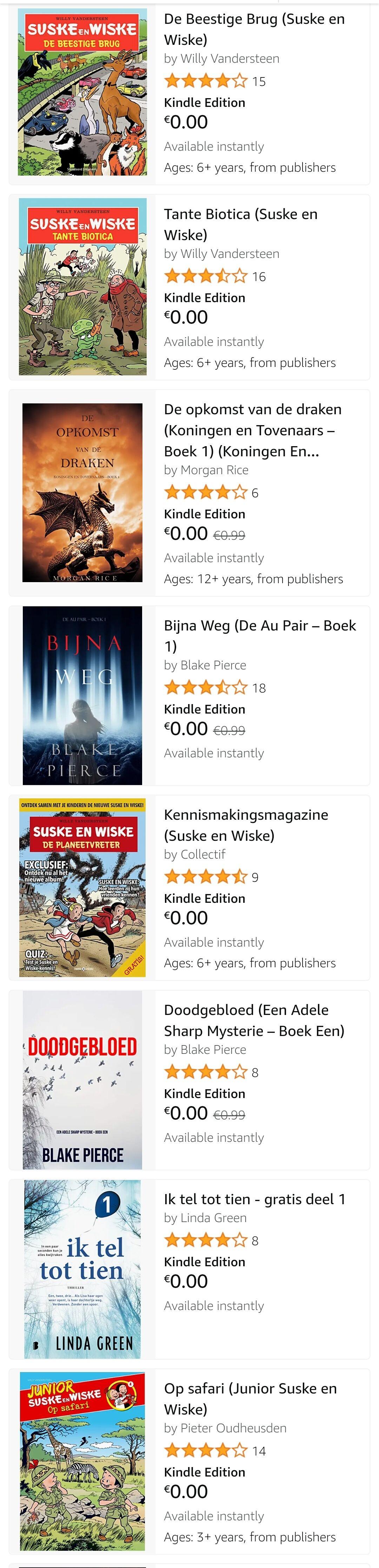 [Amazon] Gratis Kindle boeken (ook zonder Prime)