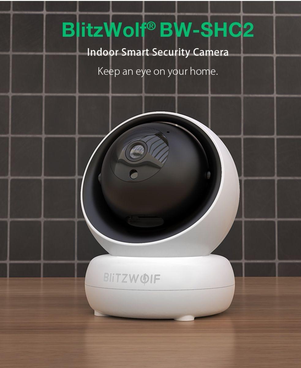 BlitzWolf® BW-SHC2 Tuya 1080P Smart Security Camera 350° Two-way Audio night vision bewegingssensor