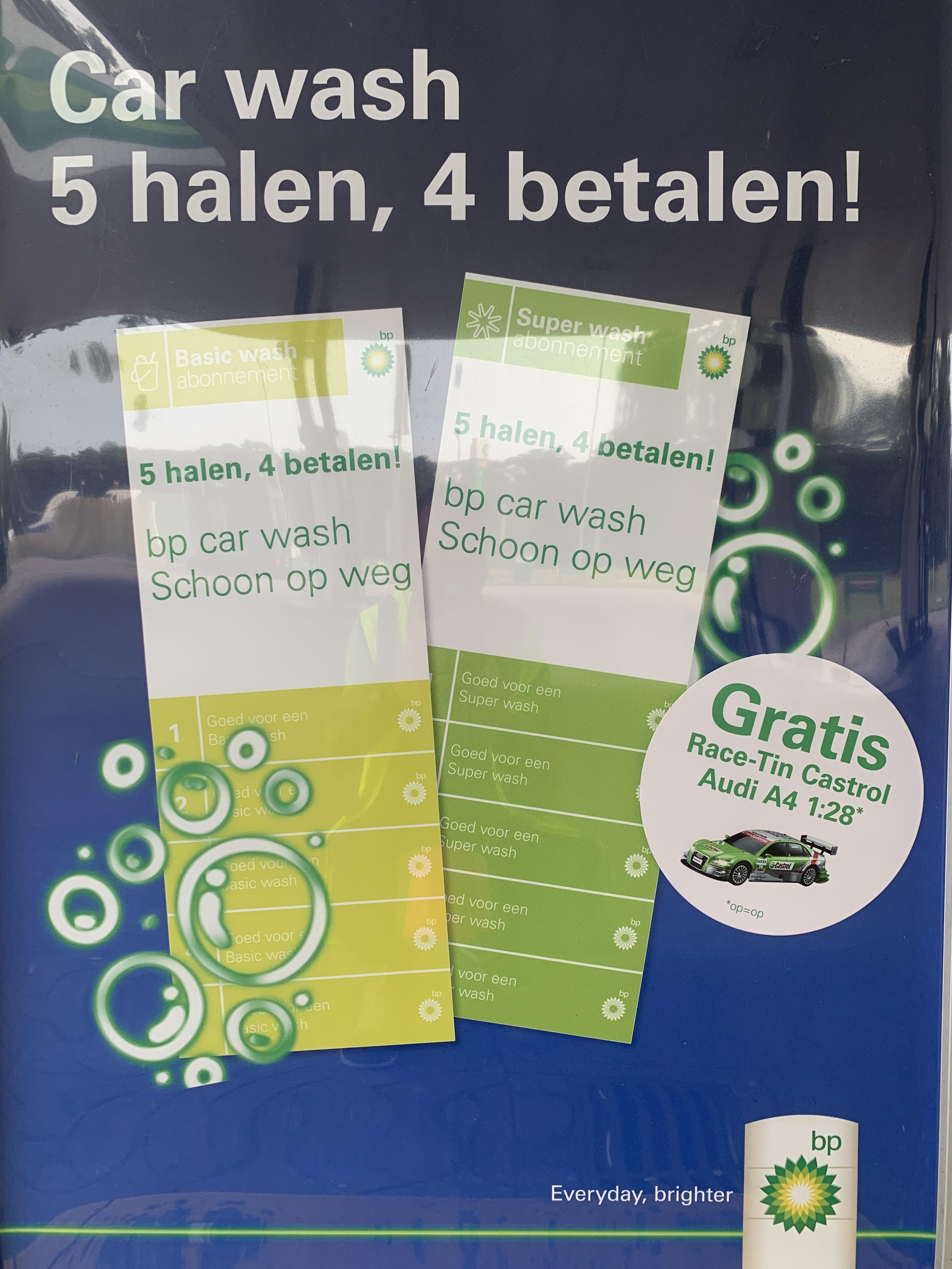 Gratis op afstand bestuurbare auto bij carwash strippenkaart @BP Oude Haagseweg