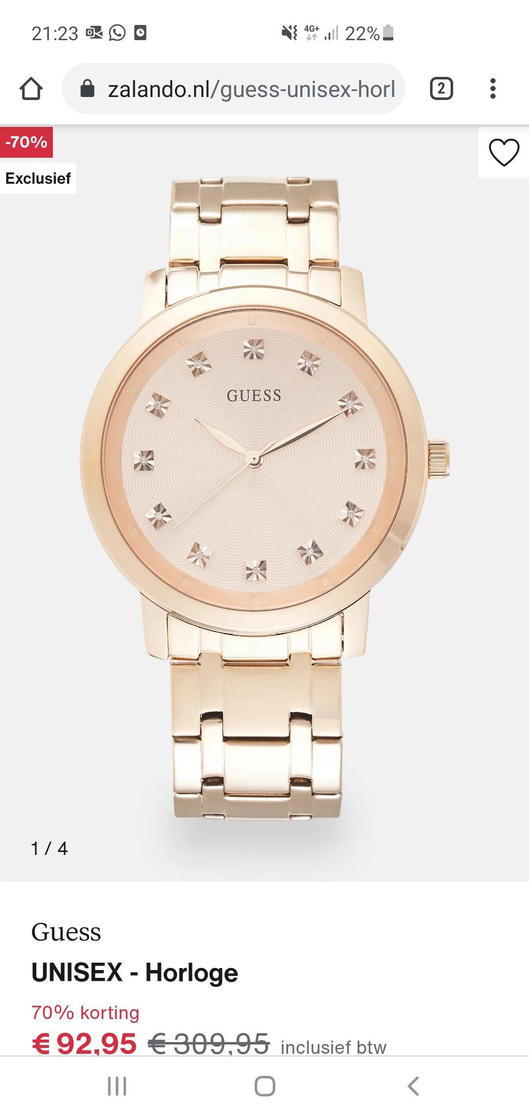 Guess horloge unisex rosé-gold