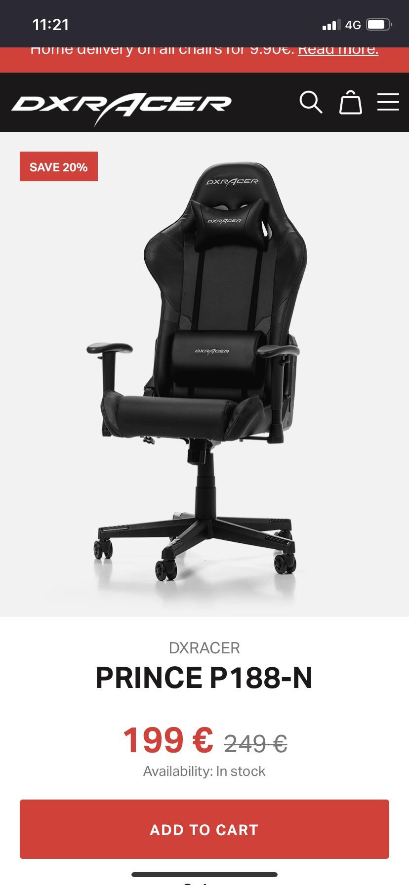 DXRacer Prince Bureaustoel