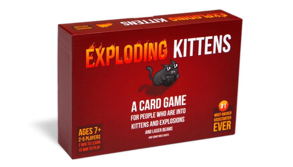 30% korting op alle Exploding Kittens games
