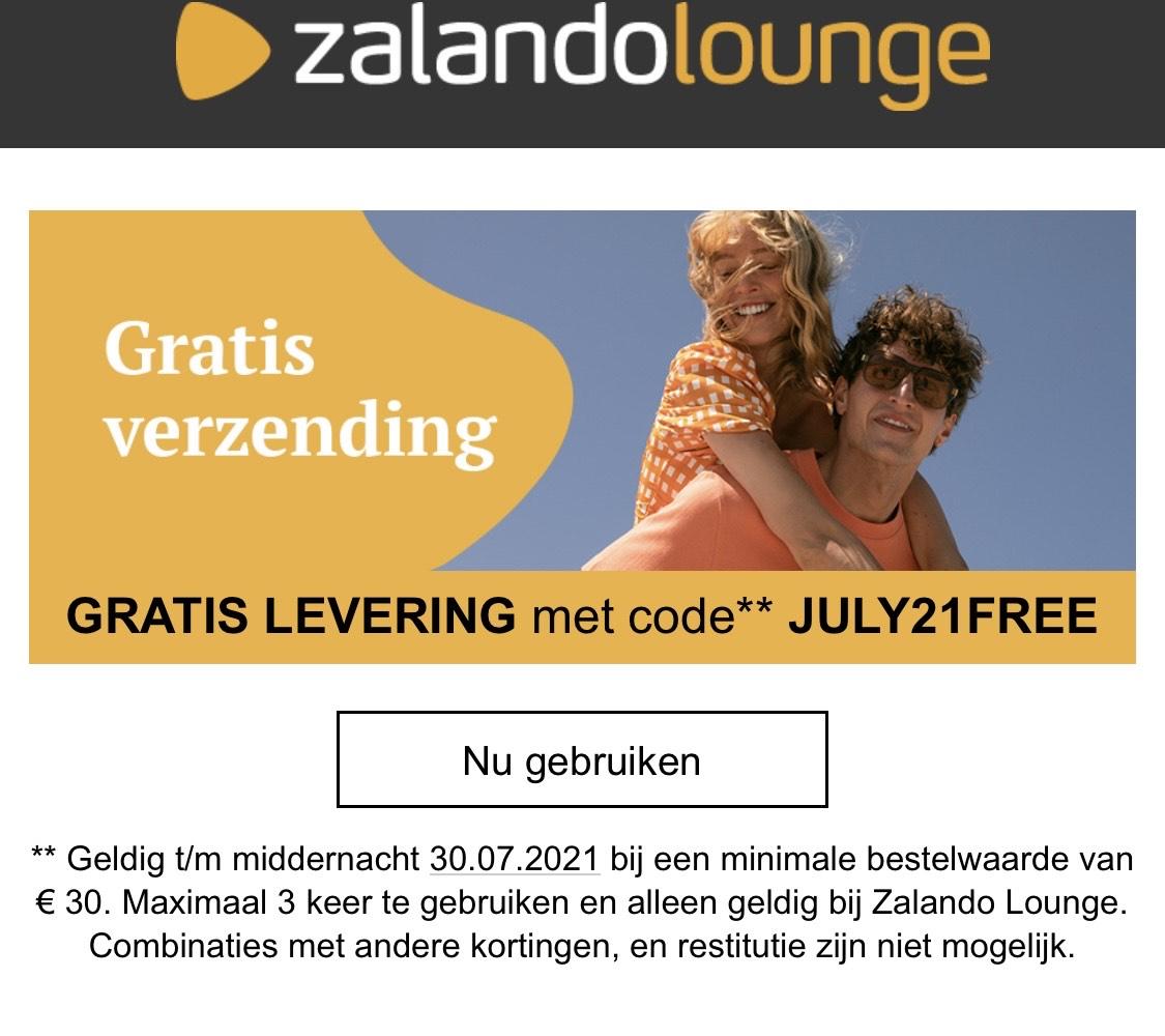 Gratis Verzending (vanaf 30 EUR) bij Zalando Lounge