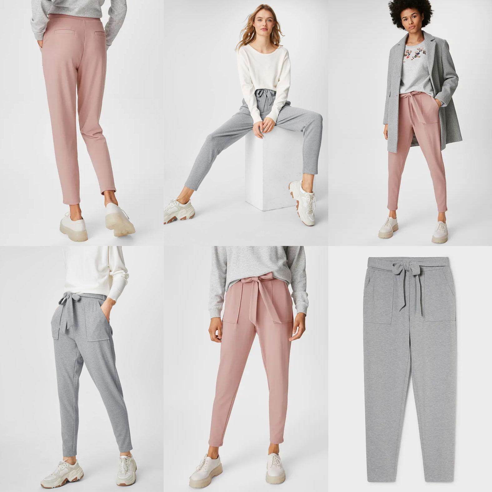 Dames joggers - roze // grijs -70% [waren €19,99]