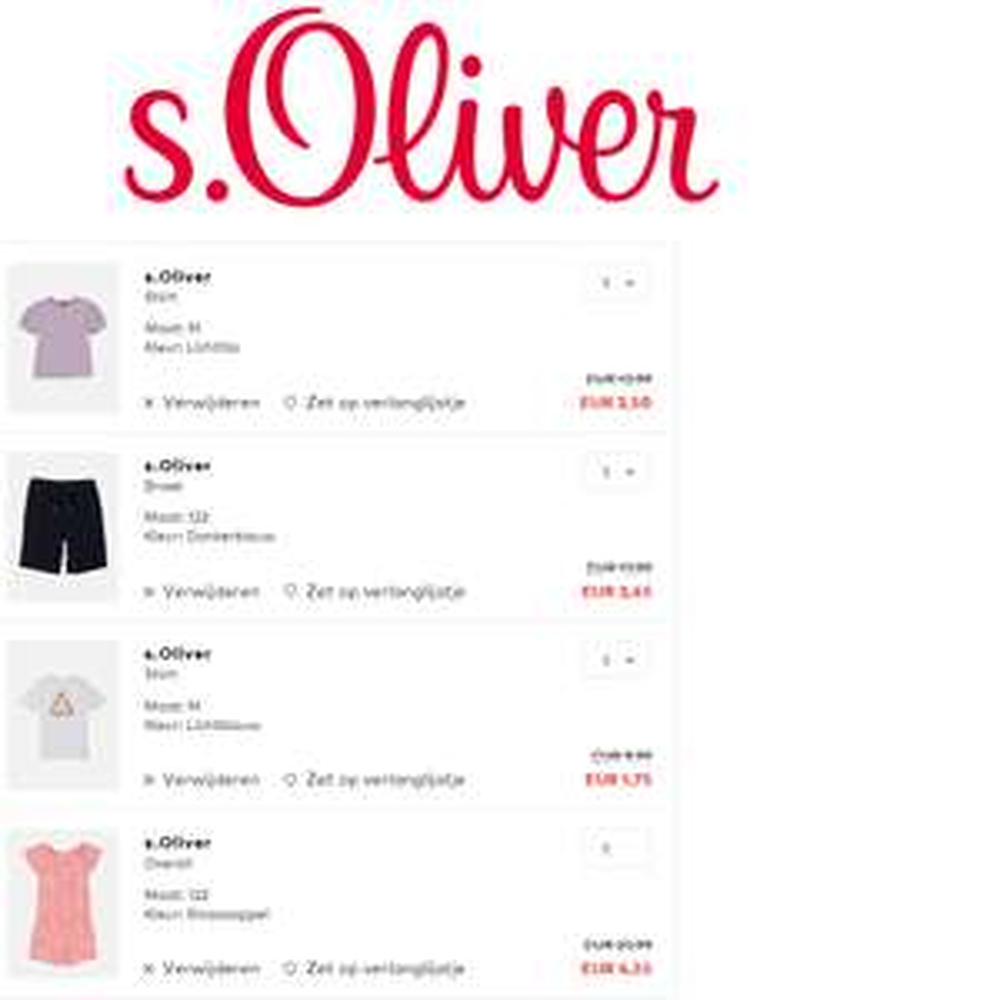 S.Oliver: veel -82% | dames / heren / kids | vanaf €1,75