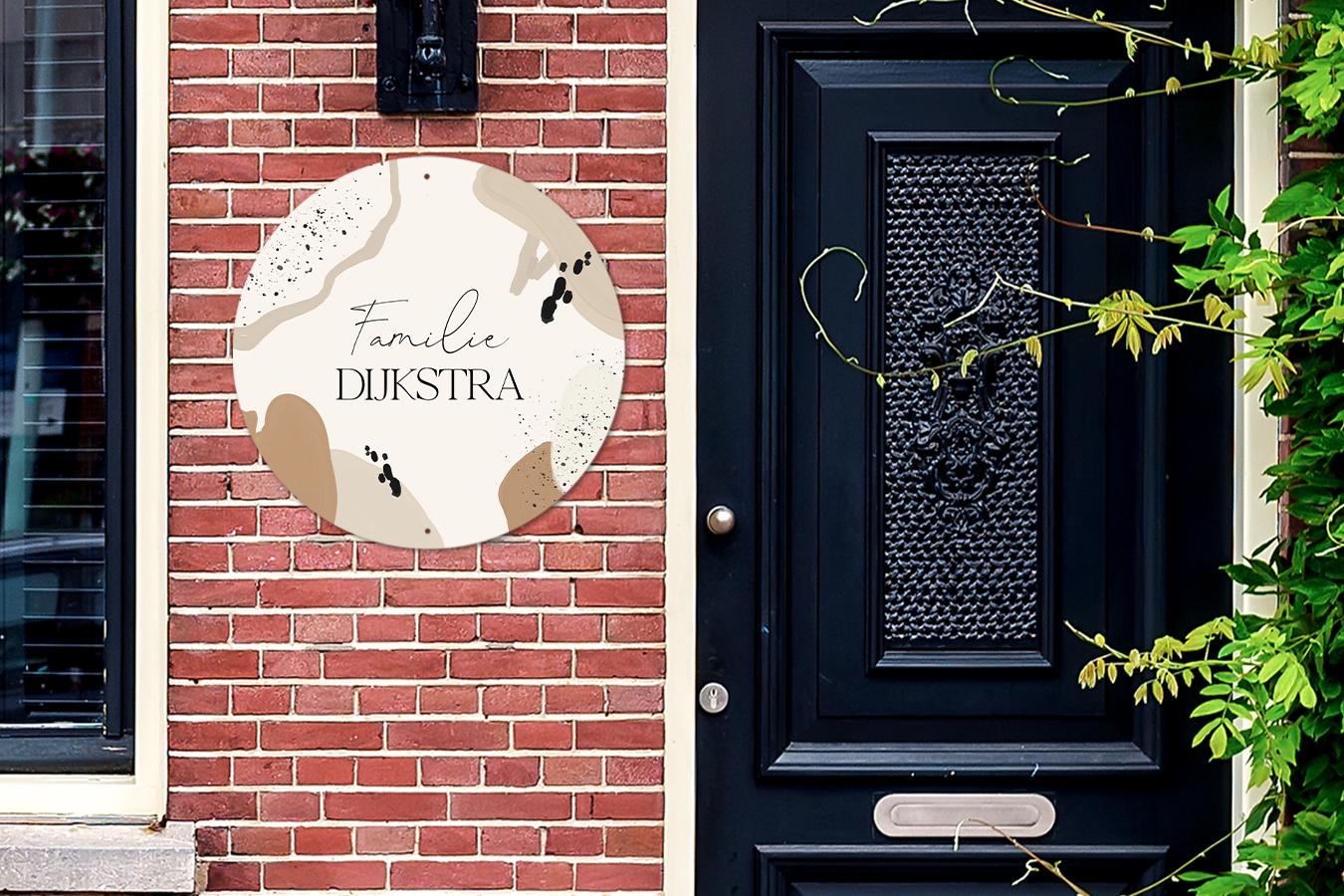 Gepersonaliseerd huisnummerbordje (nummer, naam, afbeelding) - vanaf €9,24 met code @ Fotoproducten.nl