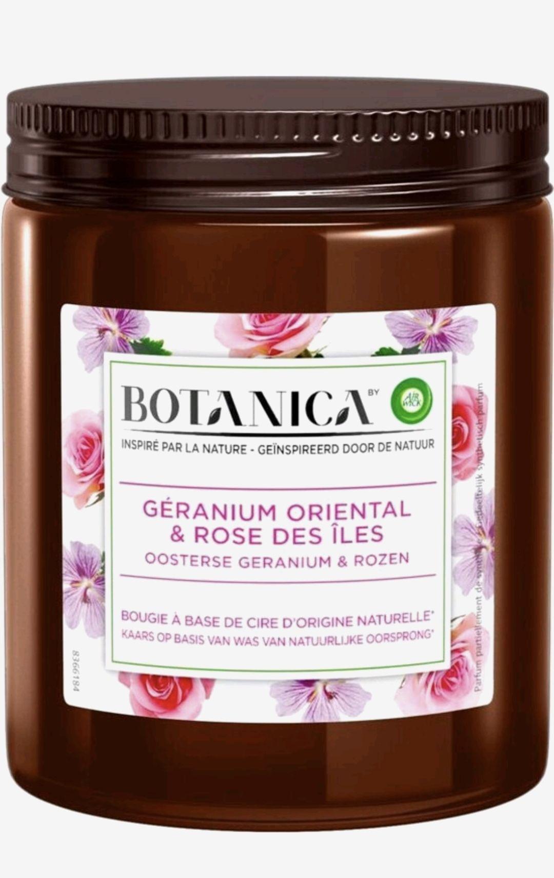 Botanica by Air Wick Geurkaars - Oosterse Geranium & Rozen - 3 Stuks - Voordeelverpakking