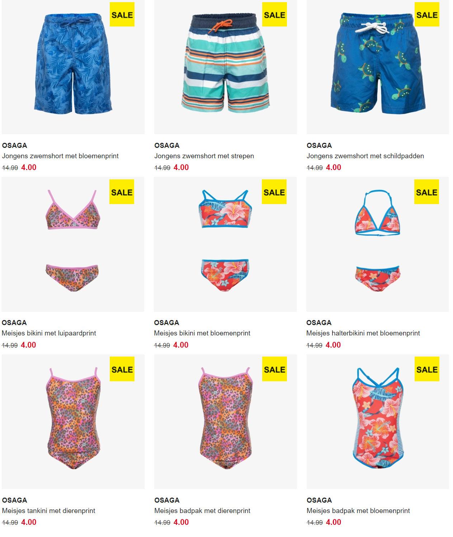 Kids badkleding van €14,99 voor €4