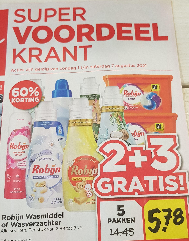 Bij Vomar vanaf 01 augustus Robijn 5=2