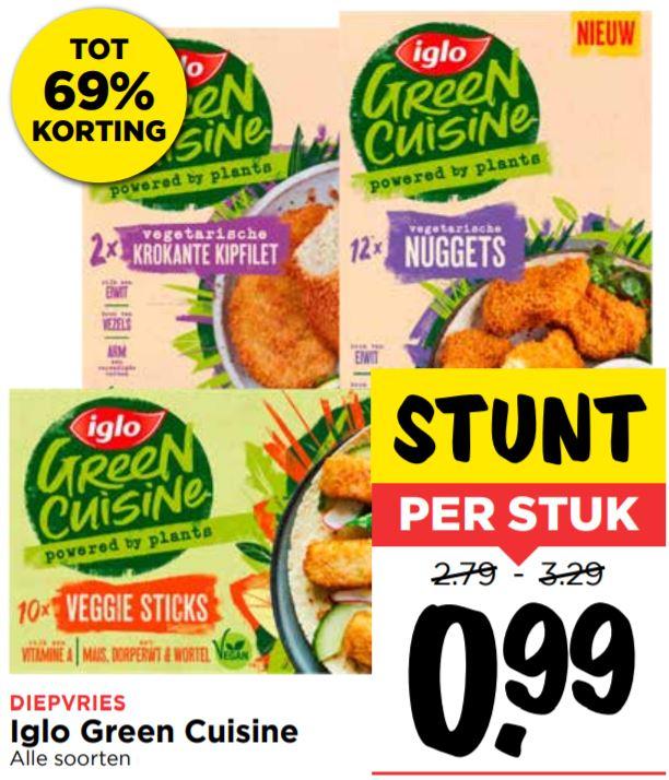 Iglo Green Cuisine alle soorten voor €0,99 @Vomar