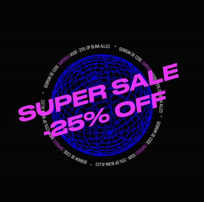 Sneakerbaas supersale - 25% korting op (bijna) alles