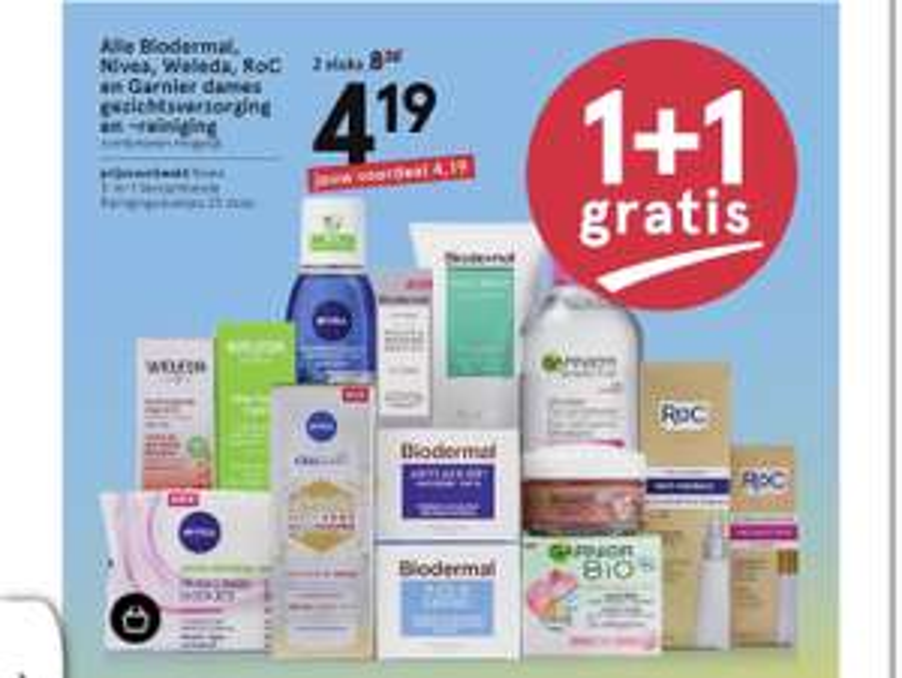 [Etos] o.a. Weleda en Biodermal gezichtsverzorging en reiniging 1+1 gratis