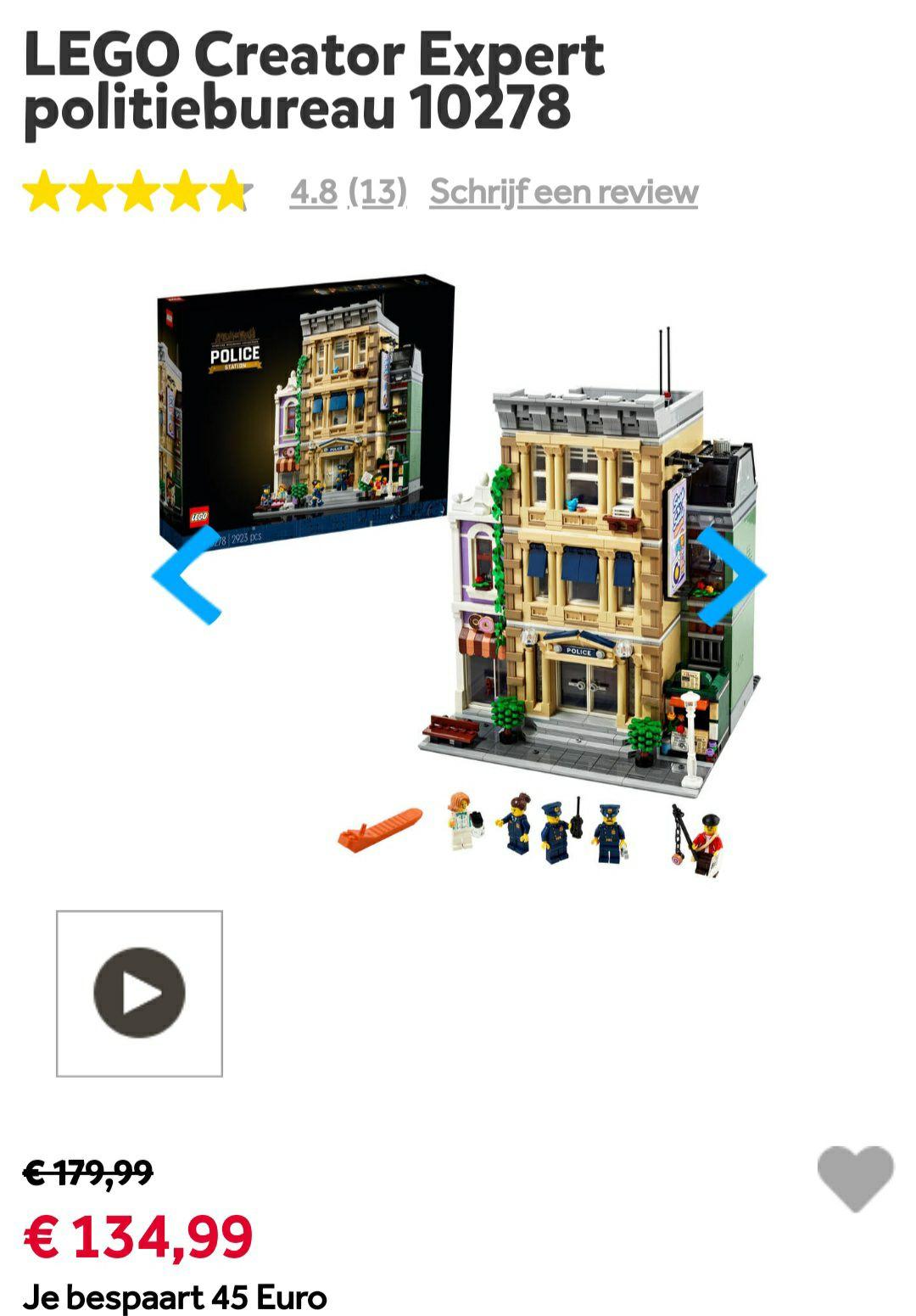 Lego Creator Expert Politiebureau (10278) en Porsche (10295)