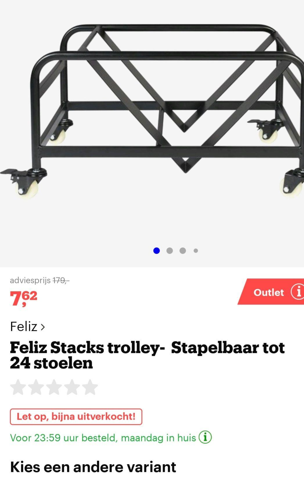 Feliz Stacks trolley- Stapelbaar tot 24 stoelen