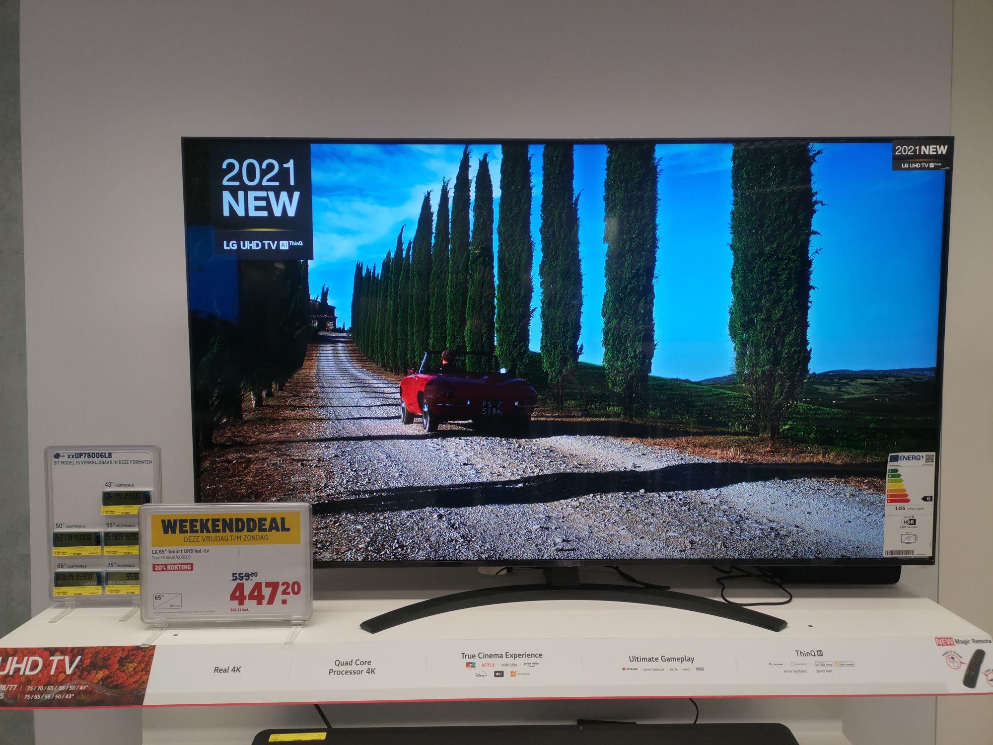 LG 65 smart UHD led tv