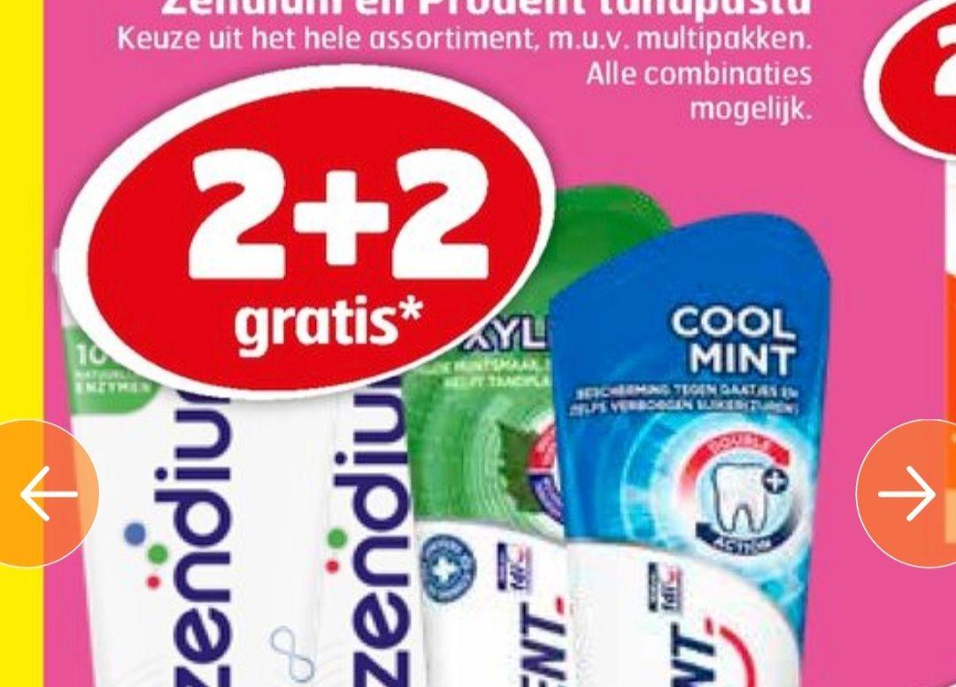 Tandpasta prodent en zendium 2+2 gratis