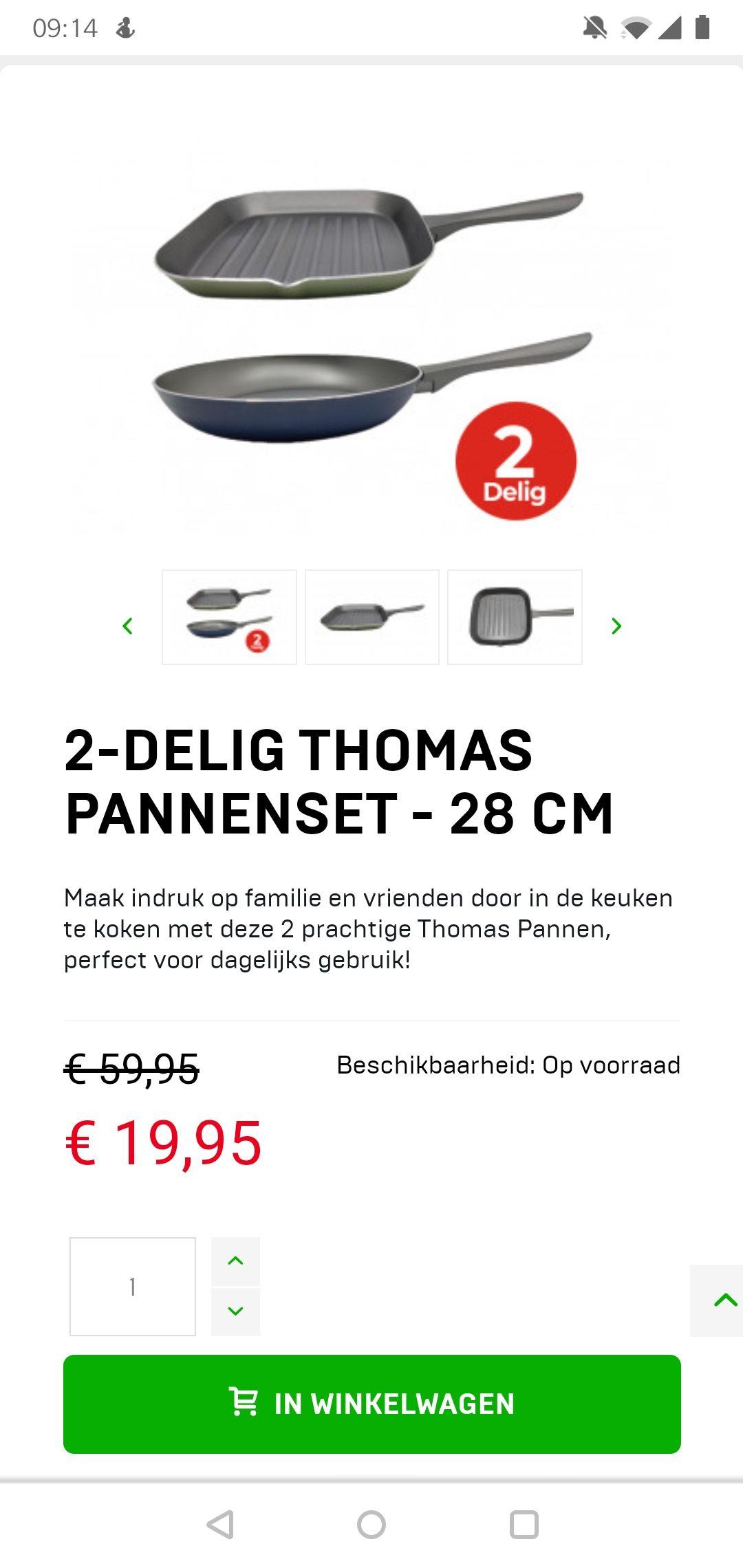 2-delige pannenset Thomas