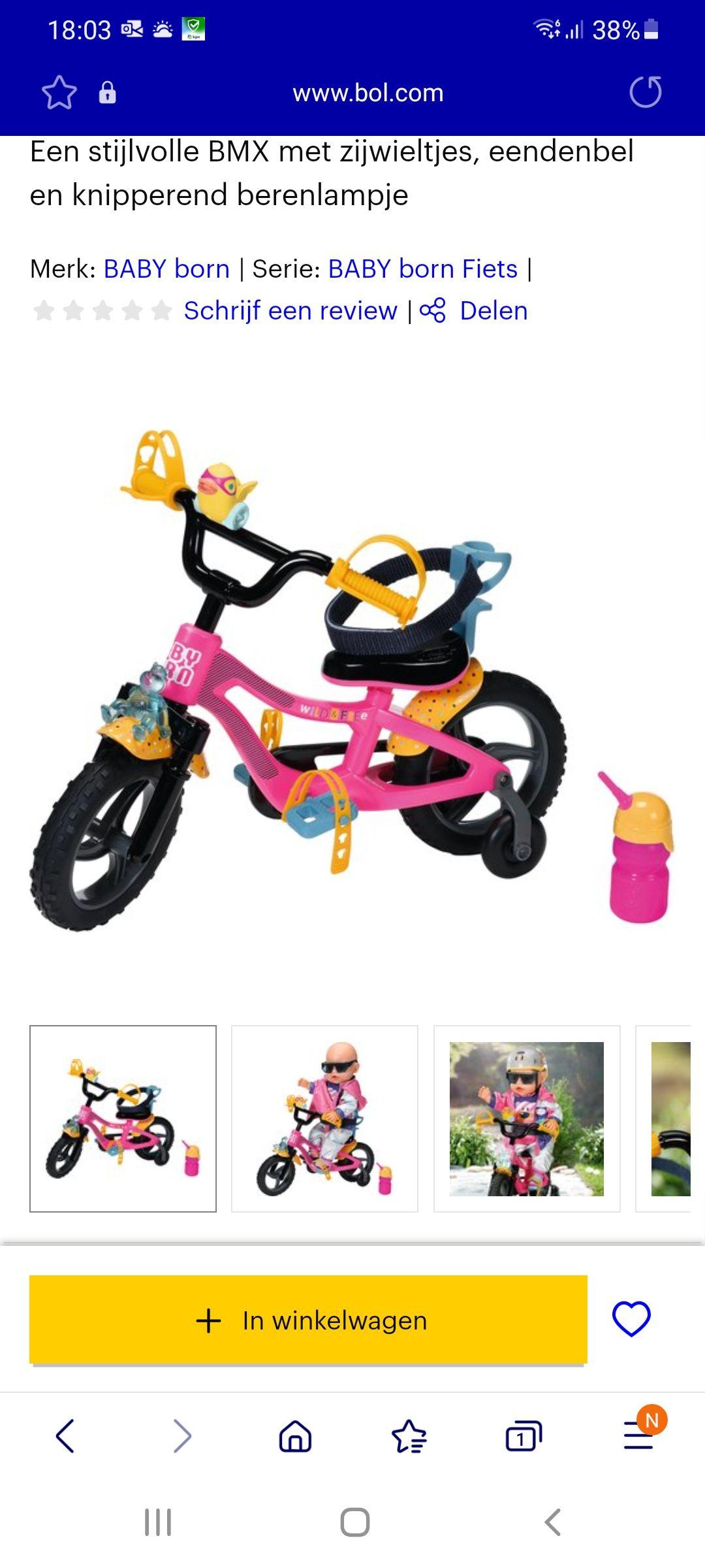 Baby born fiets