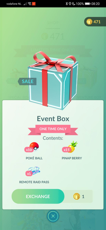 Pokémon event box 1 coin