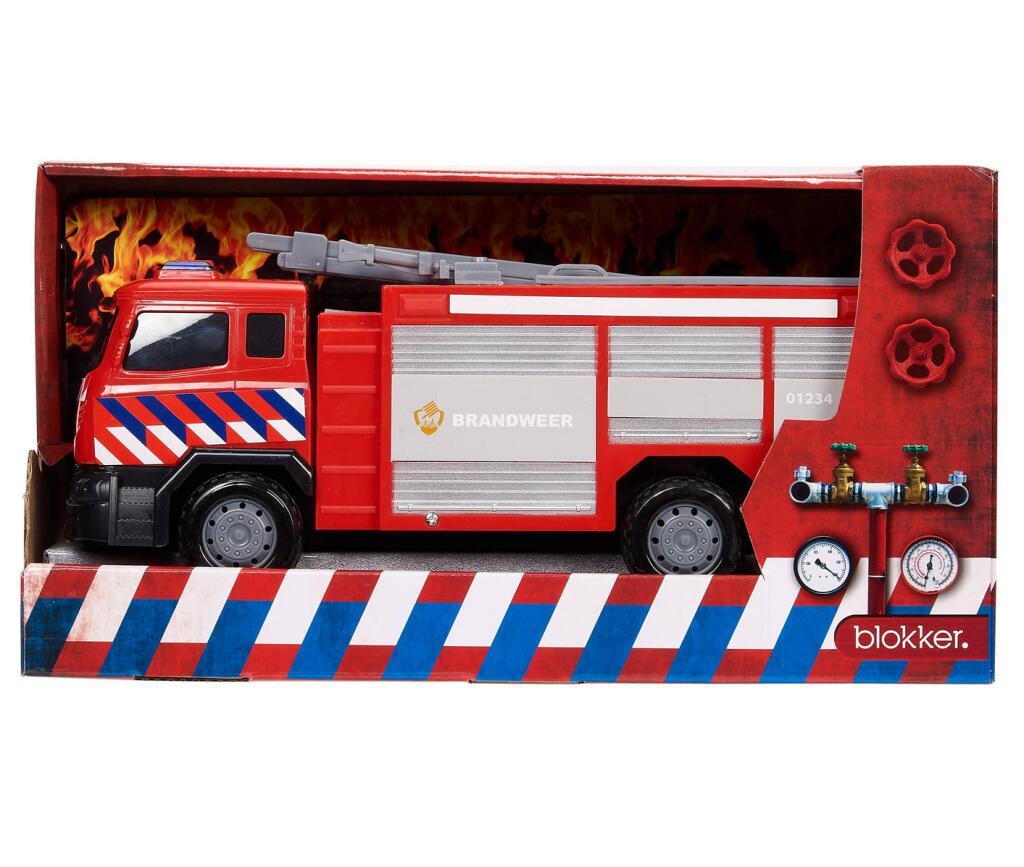 [1+1] Brandweerauto 35 cm groot - 2 stuks voor €7 @ Blokker