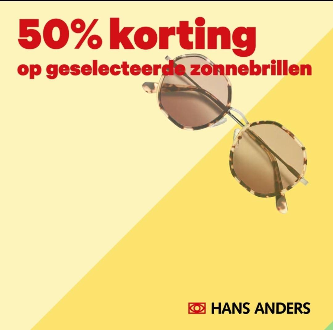 Hans Anders zonnebrillen sale 50% korting oa Vogue, Nike, Ray-ban, Ted baker