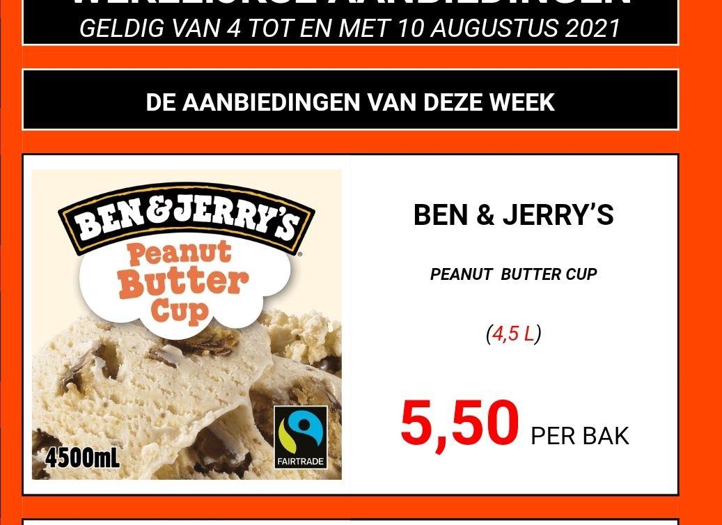 Ben & Jerry's Schepijs Peanut Butter Cup 4,5 liter (De Bakker en De Vries)
