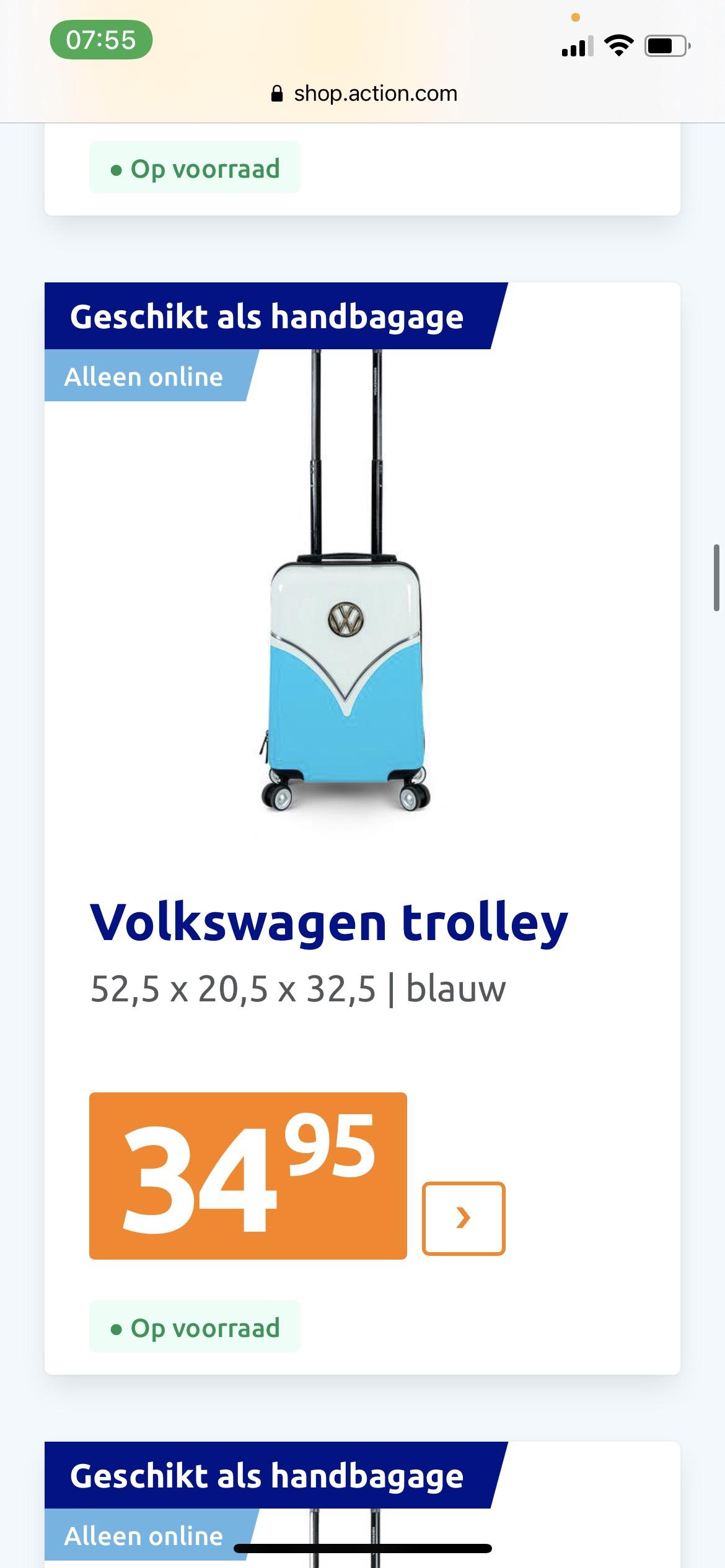 Volkswagen Trolley aanbieding