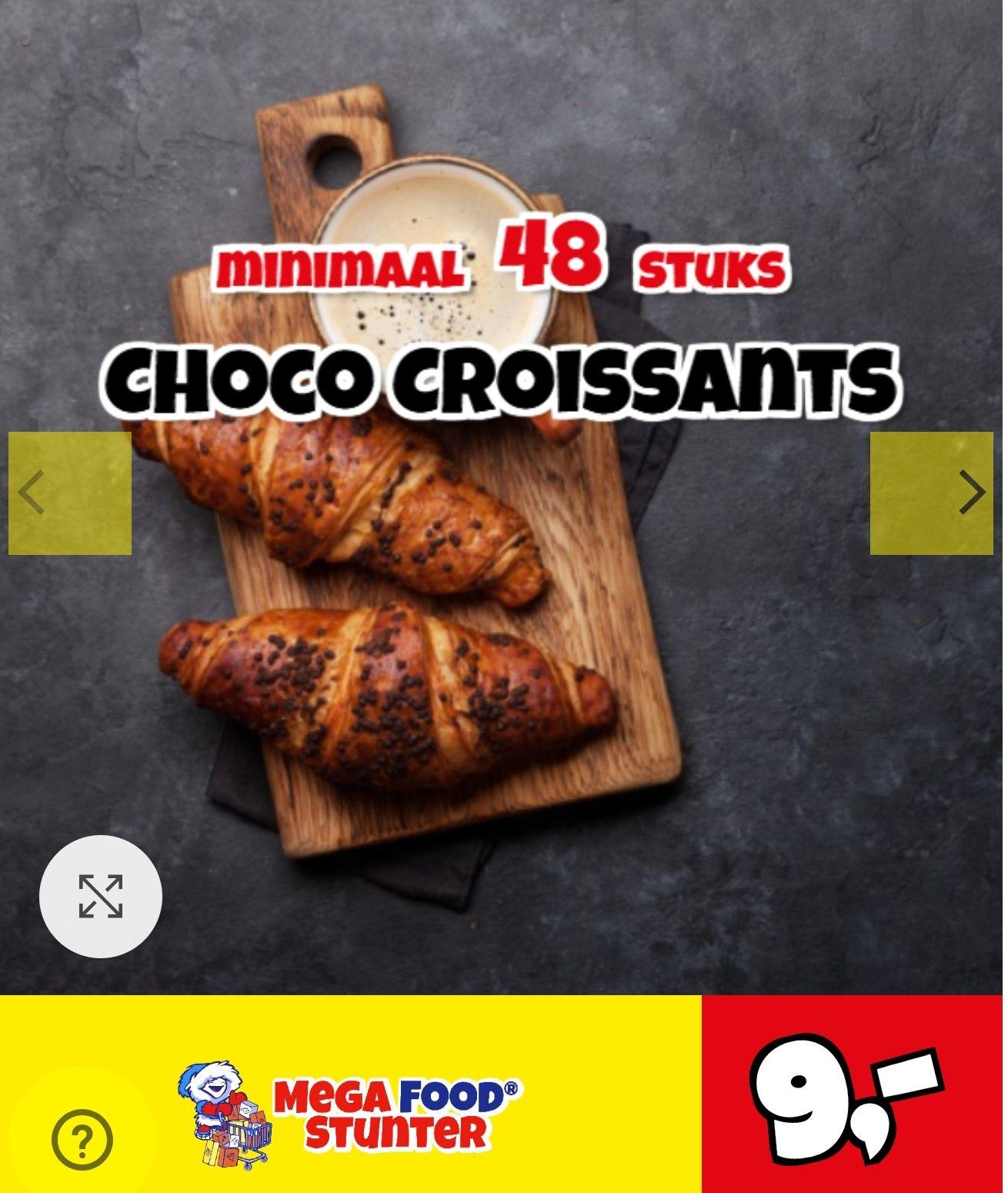 Choco Croissants 48 stuks €9,00 @ Megafoodstunter
