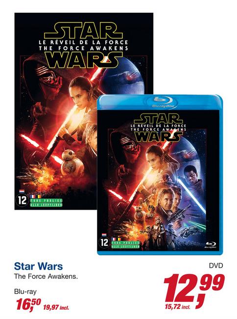 Star Wars Episode 7: The Force Awakens (Blu-ray) voor €19,97 @ Makro