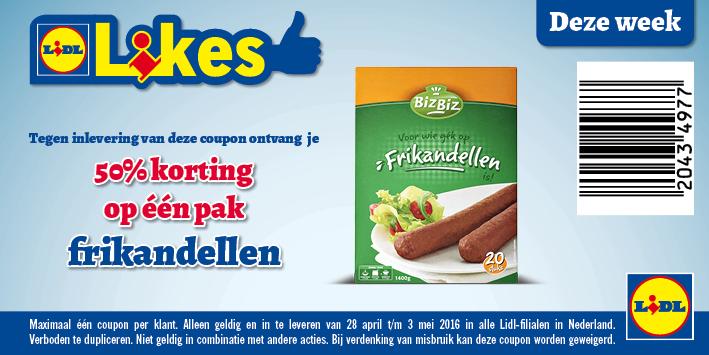20 Frikandellen voor €0,99 bij Lidl (voucher)