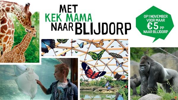 Diergaarde Blijdorp toegangskaartjes (alleen voor 1 november) voor €5,70 i.p.v. €19