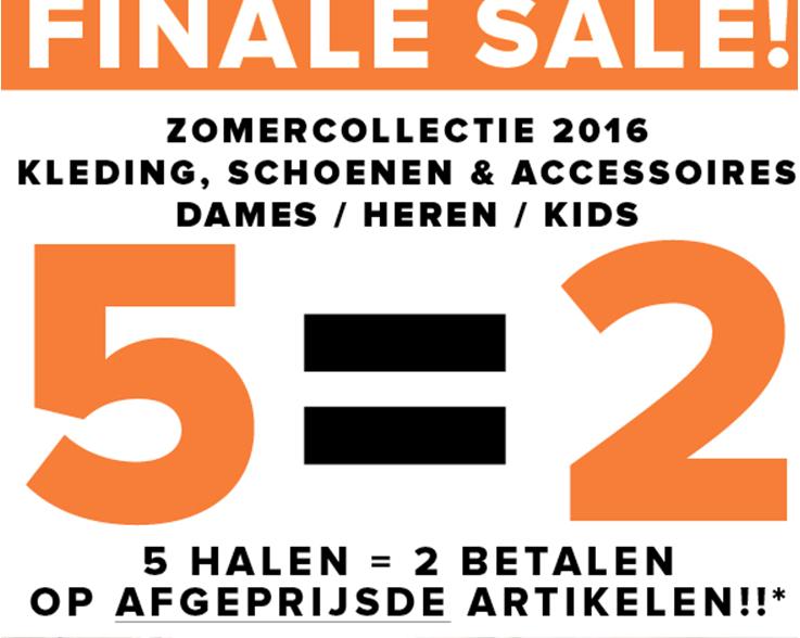 [UPDATE]  5=2 op SALE - dames / heren kids - @ Topshelf