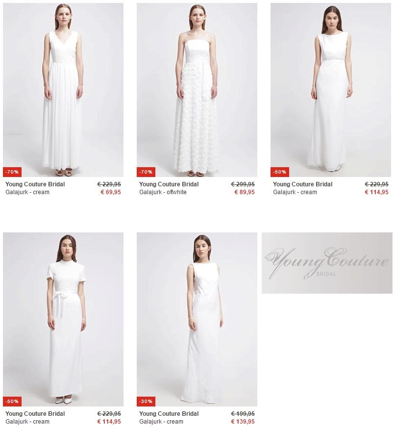 Young Couture Bridal bruidsjurken met code vanaf €52,46  @ Zalando