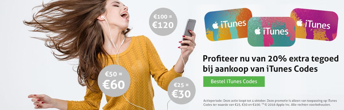 20% extra iTunes tegoed op Beltegoed.nl
