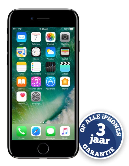 [PRIJSFOUT?] iPhone 7 Jet Black (128GB) goedkoop bij KPN verlenging (met Zorgeloos Standaard) @ Typhone