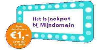 Domein voor €1 @ Mijndomein.nl + €8 cashback bij Cashback XL