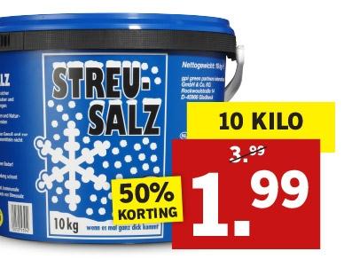 10 kilo strooizout voor €1,99 @ Lidl