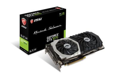 MSI GeForce GTX 1070 Quick Silver 8G OC voor 399,- @ Gamingtotaal