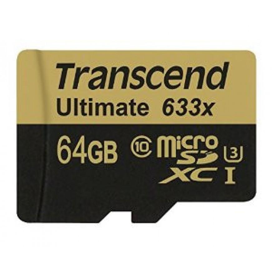 [UPDATE: nu €16,65] Transcend Ultimate 64GB microSD 633x UHS-I U3 voor €19,75 @ Nextdeal