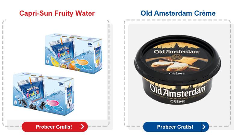 Probeer Gratis: Capri-Sun Fruity Water en/of Old Amsterdam Crème @ Jan Linders