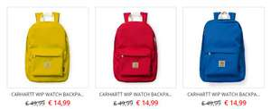 Carhartt Wip Watch backpack -70% (3 kleuren): €14,99 @ Front Runner
