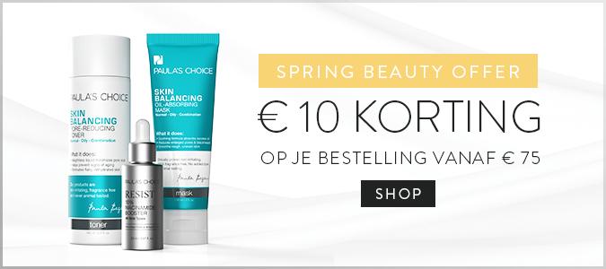 €10 Korting (va €75) + gratis crème t.w.v. €25 (va €100) @ Paula's Choice