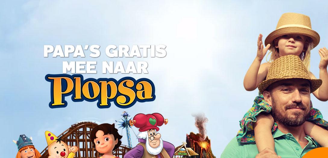 Papa's (en mama's) gratis mee @ Plopsa