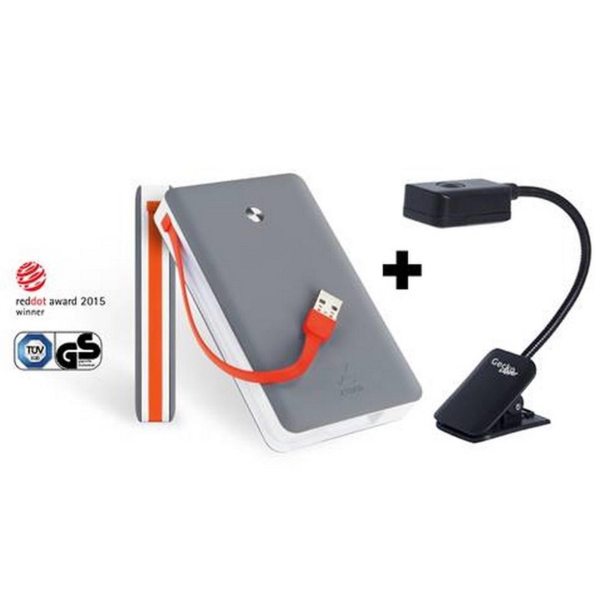 Xtorm Power Bank Free 15.000 mAh + Clipper Leeslamp voor €34,95