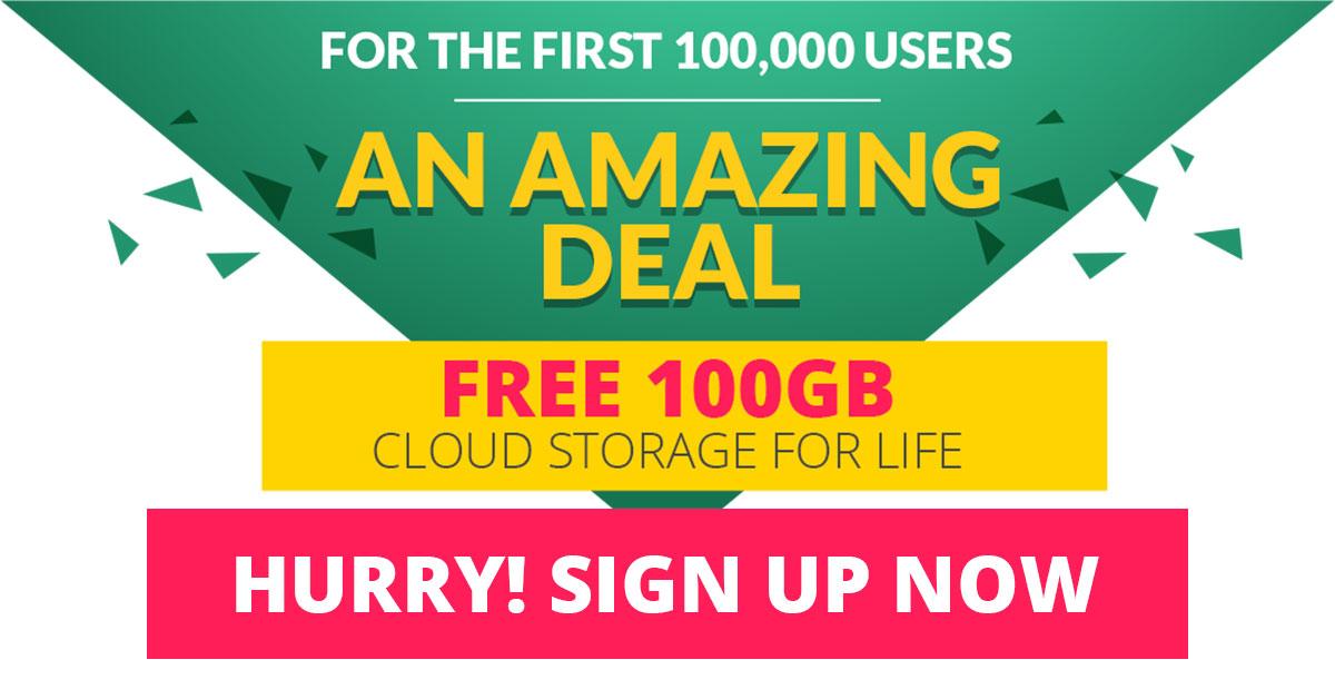 100GB gratis cloud opslag @ Zoolz