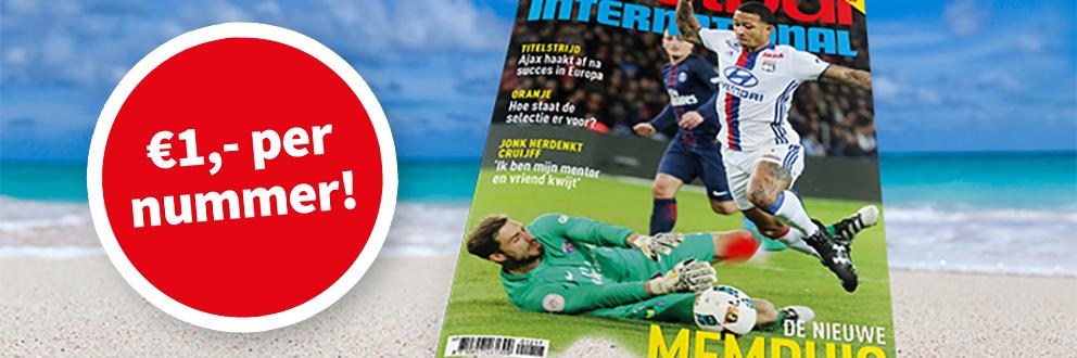 26 weken Voetbal International voor €26