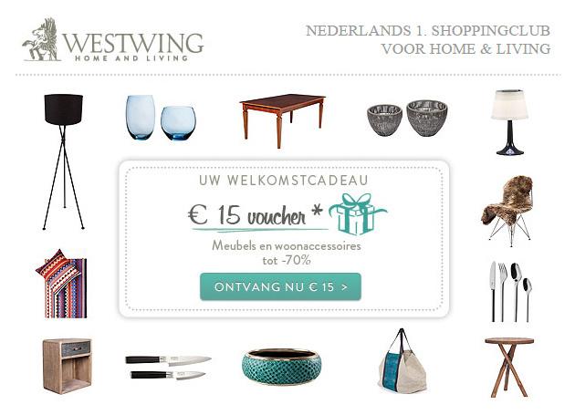 €15 korting bij een besteding vanaf €40 @ Westwing