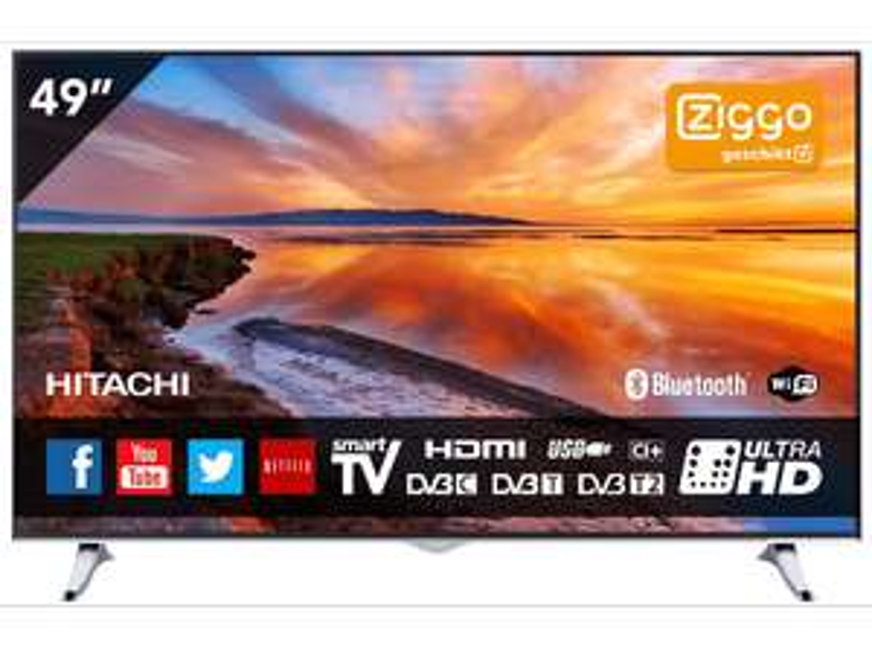 HITACHI 49HGW69 Ultra HD TV voor €399 @ Media Markt (tot 09:00)
