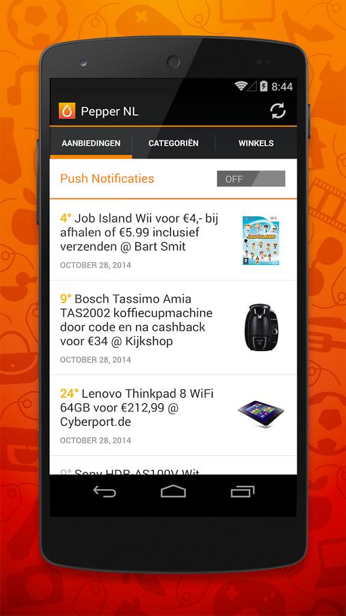 Download de Pepper.com App en mis nooit meer een prijsfout!